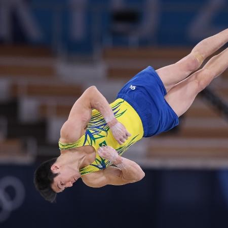 Arthur Nory disputa o solo na Olimpíada de Tóquio - Ricardo Bufolin/CBG