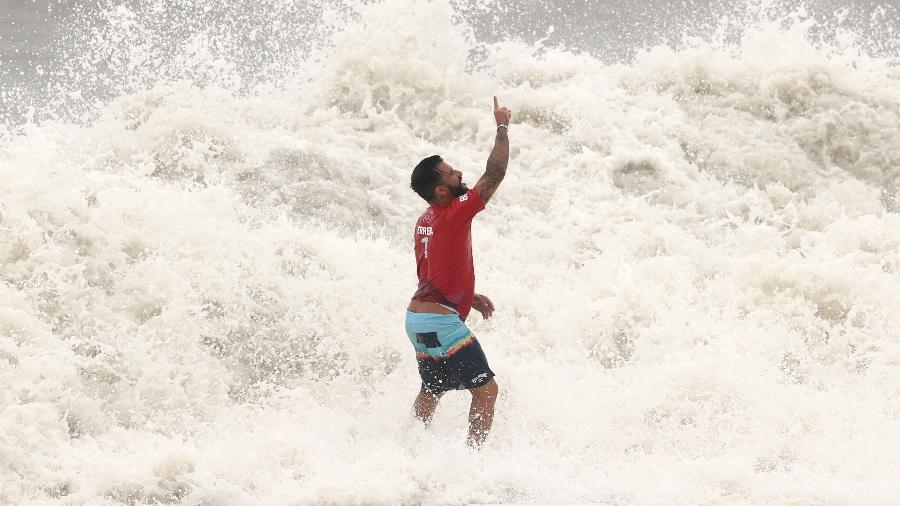 Ítalo Ferreira, primeiro campeão olímpico do surfe e primeiro ouro do Brasil em Tokyo-2020 - Ryan Pierse/Getty Images
