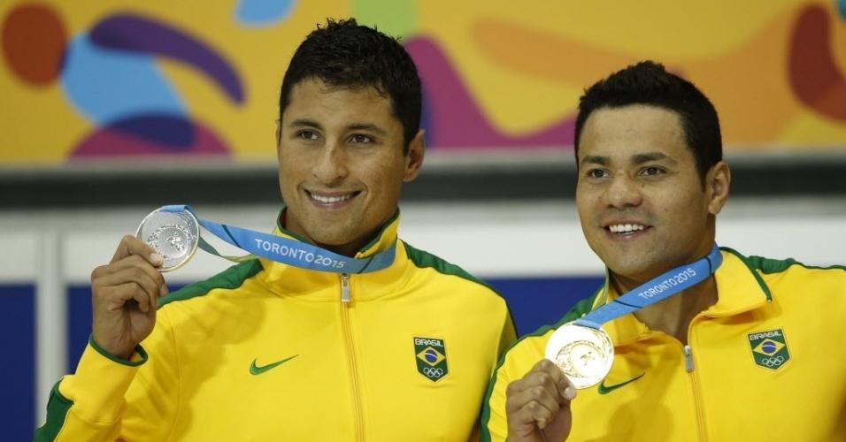 Felipe França e Felipe Lima comemoram primeira dobradinha do Brasil nos Jogos Pan-Americanos