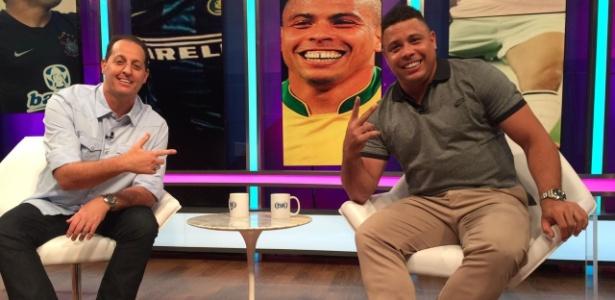 """Ronaldo em participação no programa """"Aqui com Benja"""", da Fox Sports - Divulgação/Fox Sports"""