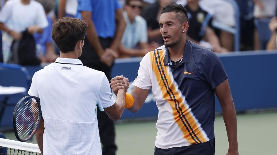 Após conversa com árbitro, Kyrgios venceu Herbert, pela segunda rodada do US Open - Jerry Lai-USA TODAY Sports