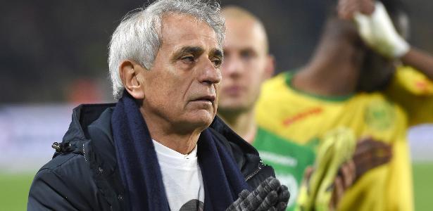 Halihodzic, técnico do Nantes, em ação contra o Saint-Etienne - Sebastien Salom Gomis/AFP
