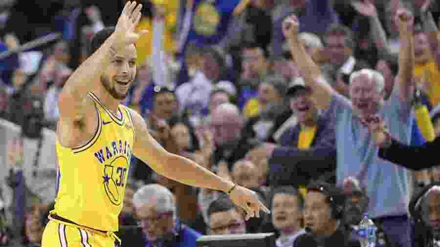 Stephen Curry volta a treinar no Golden State Warrriors - Kyle Terada/USA Today Sports