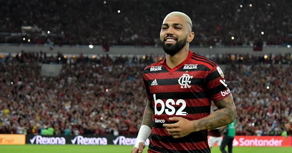 Gabigol, durante Flamengo x Internacional