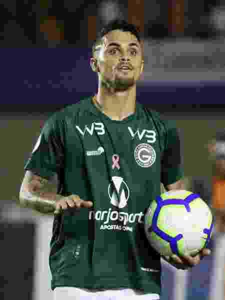 Michael comemora gol do Goiás contra o Corinthians - Heber Gomes/AGIF