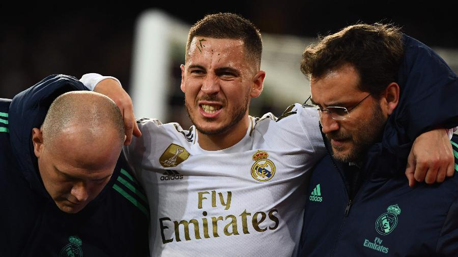 Belga sofre com uma série de lesões desde que assinou com o clube espanhol - GABRIEL BOUYS / AFP