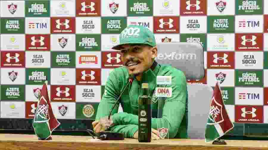 Gilberto salientou amizade que tem com concorrente Igor Julião - LUCAS MERÇON / FLUMINENSE F.C.