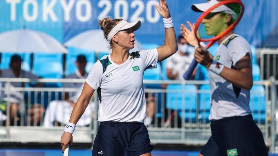 Laura Pigossi e Luisa Stefani na disputa de duplas das Olimpíadas - Wander Roberto/COB