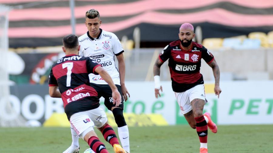 No último confronto entre as equipes, vitória do Flamengo, por 2 a 1, no Maracanã  - Rodrigo Coca/ Ag. Corinthians