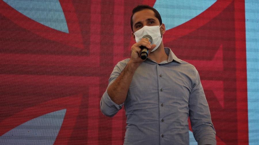Rodrigo Dias, gerente da base do Vasco, em evento em que foi anunciada a expansão do CT das categorias inferiores - João Pedro Isidro/Vasco