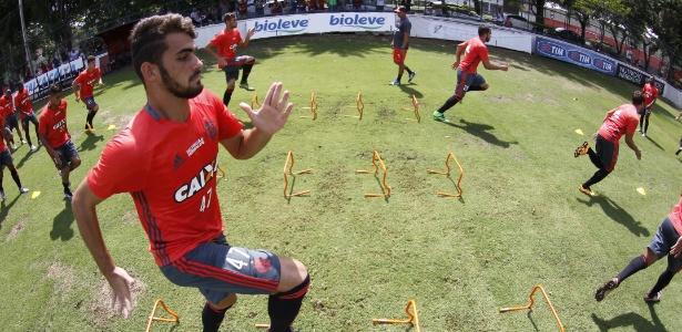 Felipe Vizeu (foto) e Ederson disputam vaga no ataque do Fla contra a Chapecoense