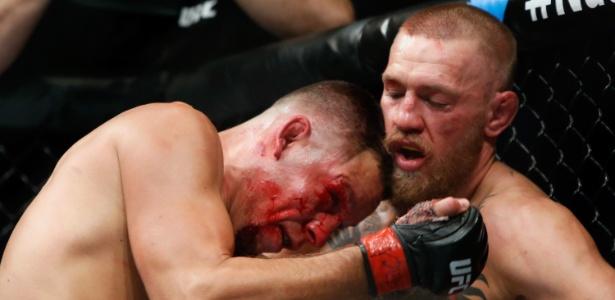 Conor McGregor venceu Nate Diaz na decisão dos juízes - Steve Marcus/Getty Images