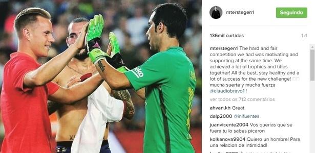 Ter Stegen desejou sorte para Bravo em seu novo clube