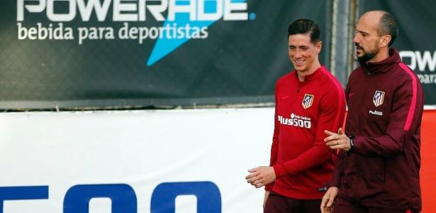 Fernando Torres volta aos treinos no Atlético de Madri