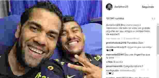 Daniel Alves e Paulinho - Reprodução/Instagram - Reprodução/Instagram