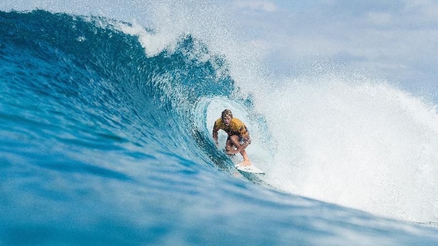 John John Florence em ação no Pipe Masters, no Havaí - WSL / Kelly Cestari