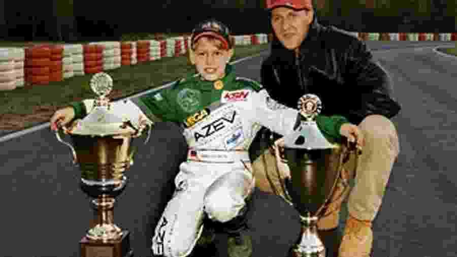Schumacher é a grande inspiração de Sebastian Vettel na F1 - Arquivo