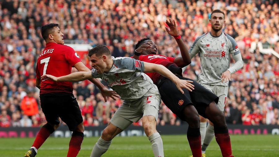 Manchester United e Liverpool jogam pelo Campeonato Inglês -  Reuters/Lee Smith