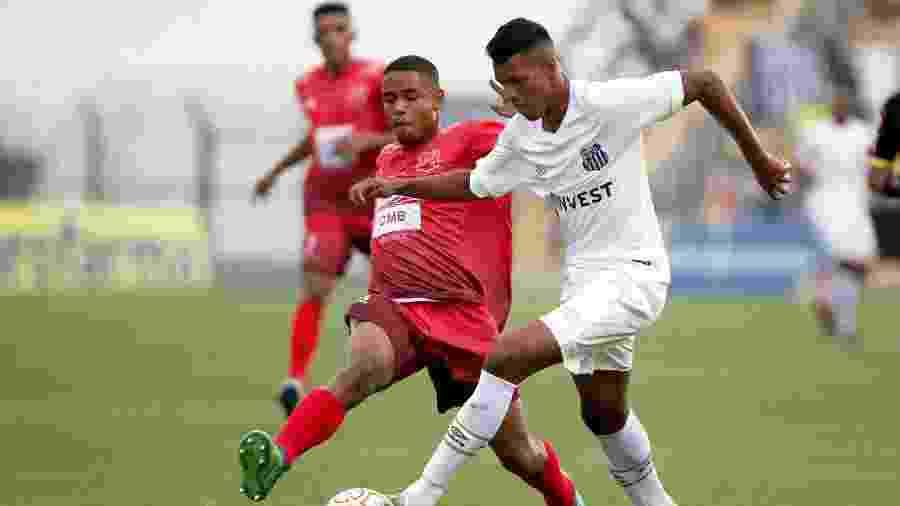 Tailson, atacante do Santos, em ação na Copinha - Pedro Ernesto Guerra Azevedo/Santos FC