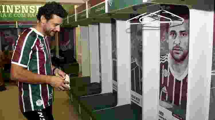 Fred visita vestiário em Laranjeiras, sede do Fluminense - Mailson Santana/Fluminense FC - Mailson Santana/Fluminense FC