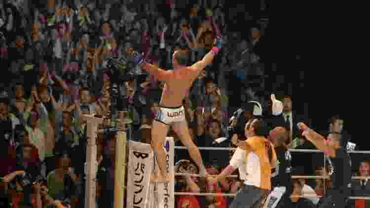 Wanderlei Silva após derrotar Quinton Rampage Jackson pelo Pride - Marcelo Alonso - Marcelo Alonso