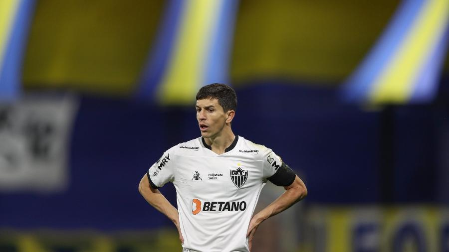 Nacho completou 20 partidas pelo Atlético-MG no duelo contra o Boca em La Bombonera - Pedro Souza/Atlético