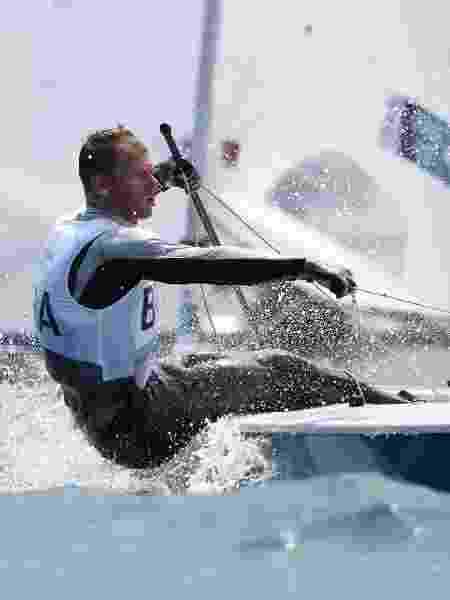 Robert Scheidt na classe Laser nos Jogos Olímpicos Tóquio 2020 - Getty Images - Getty Images