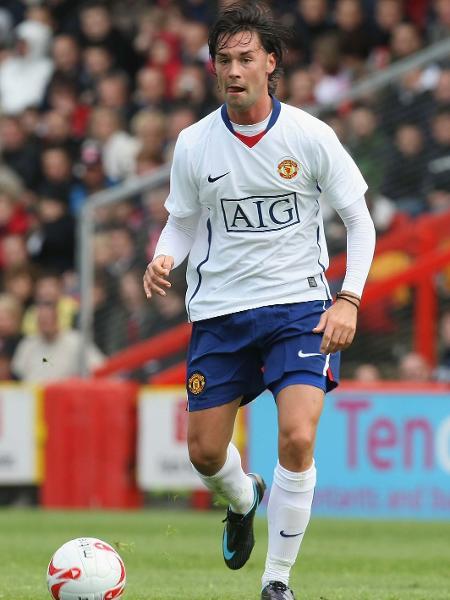 Chris Eagles em ação pelo United em 2008; ex-jogador parou em tribunal após ser flagrado bêbado em Audi - John Peters/Manchester United via Getty Images