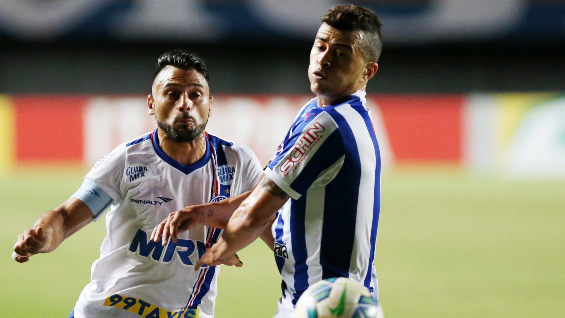 Maxi Biancucchi, do Bahia, em ação durante a partida contra o Paysandu, na terceira fase da Copa do Brasil