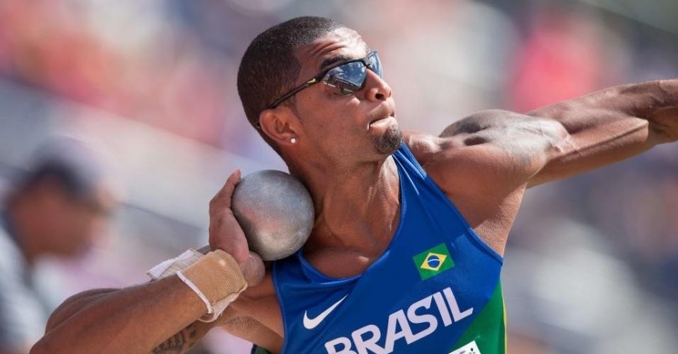 Felipe dos Santos no arremesso de peso do declaton dos Jogos Pan-Americanos