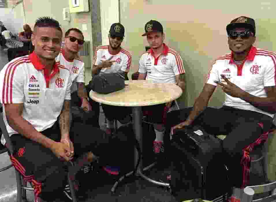 Everton, Alan Patrick, Paulinho, Pará e Marcelo Cirino: jogadores envolvidos em polêmica no Flamengo - Divulgação/ Flamengo