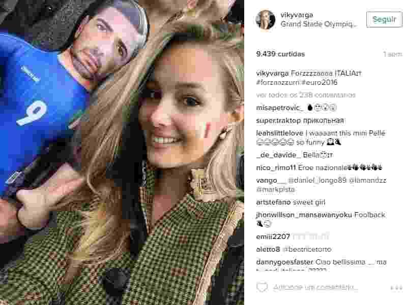 Viktoria Varga, modelo que namora o atacante italiano Graziliano Pellè - Reprodução/Instagram