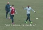 Felipe Melo dá bronca em Roger Guedes e cobra respeito durante treino
