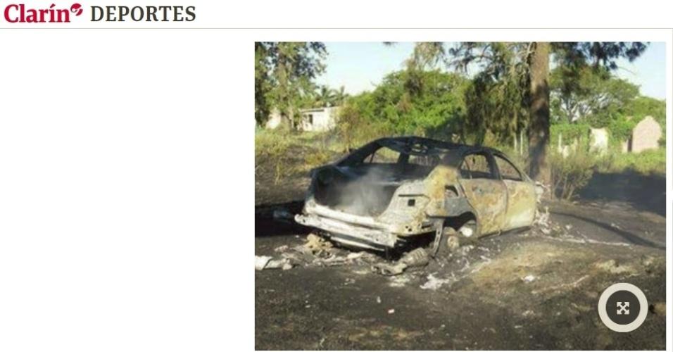Carro Passarella fogo acidente