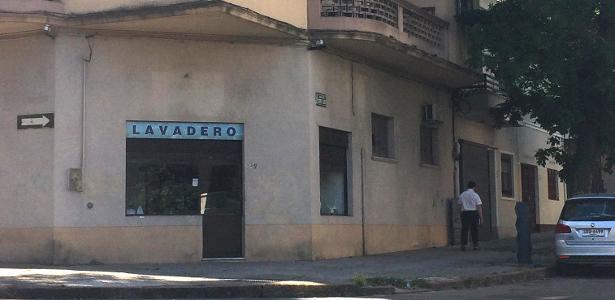 Lavanderia em esquina de Montevidéu ocupa espaço do círculo central do antigo Estádio Pocitos, palco do primeiro jogo da história das Copas do Mundo