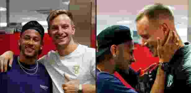 Neymar reencontra companheiros de Barcelona - Reprodução - Reprodução