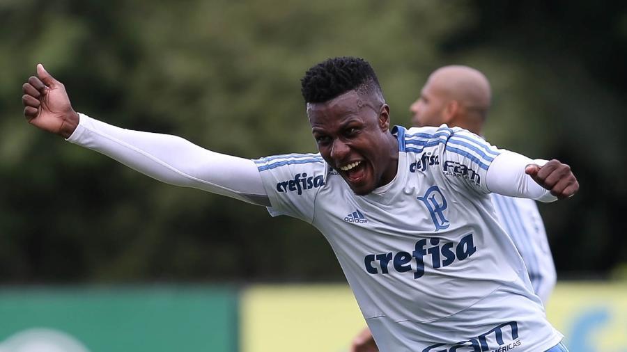 Pedrão, zagueiro do Palmeiras, contratado pelo Nacional da Ilha da Madeira - Cesar Greco/Ag. Palmeiras/Divulgação