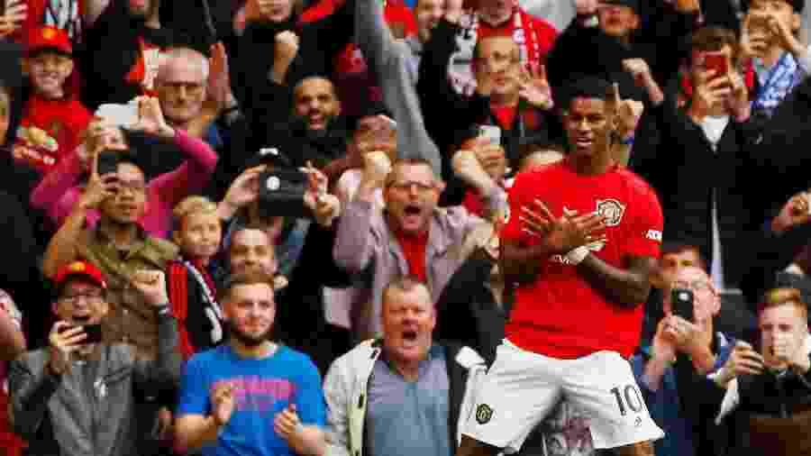 Rashford marcou o primeiro gol do Manchester United na Premier League 2019/20 - JASON CAIRNDUFF/REUTERS