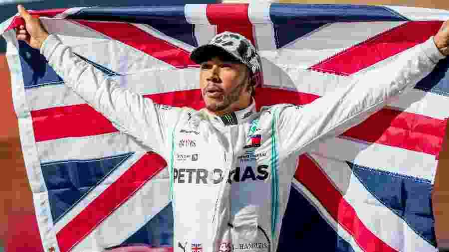 Lewis Hamilton comemora hexacampeonato após GP dos EUA - Peter J Fox/Getty Images