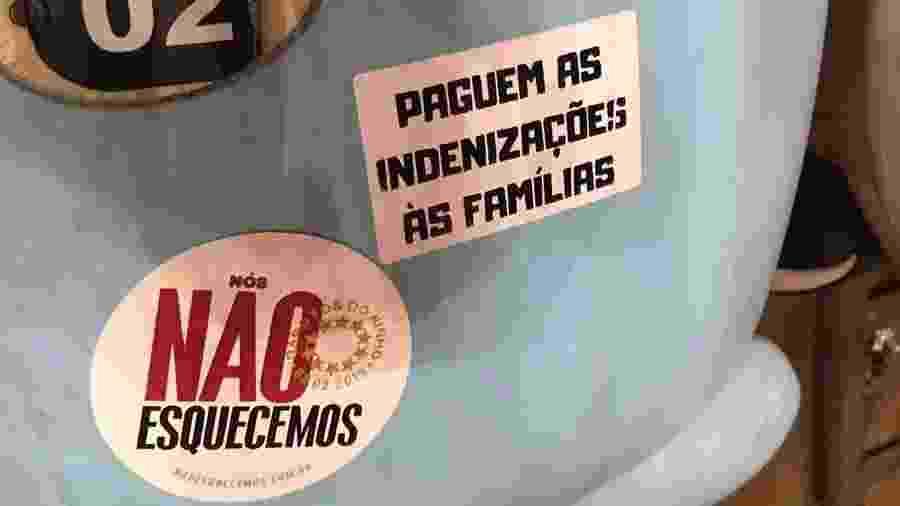 Torcida do Vasco pediu pagamento de indenização das vítimas do incêndio no Ninho do Urubu - Reprodução/Twitter