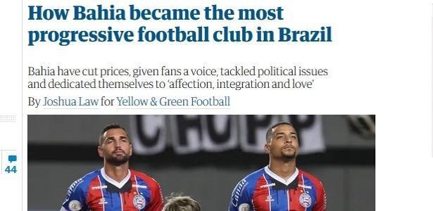 Combate ao racismo e mais | Jornal aponta Bahia como 'o clube mais progressista do Brasil'