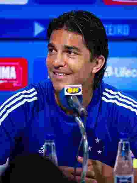 Marcelo Moreno em entrevista do Cruzeiro na Toca da Raposa - Bruno Haddad/Cruzeiro