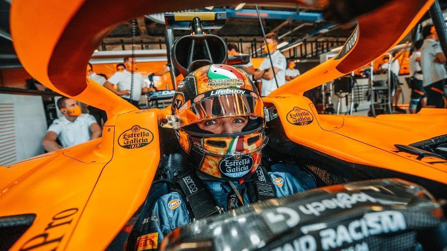 Lando Norris (foto) fará dupla com Daniel Ricciardo na McLaren em 2021 - McLaren/Divulgação