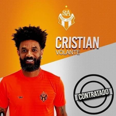 Cristian é novo reforço do Atibaia - Reprodução
