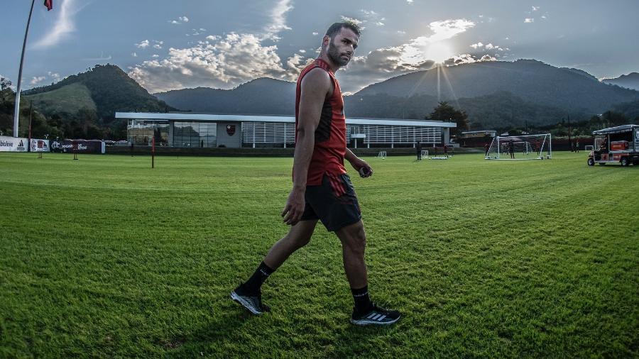 Thiago Maia, volante do Flamengo, faz atividade no Ninho do Urubu  - Alexandre Vidal / Flamengo