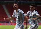 Sem brilho, Argentina bate o Uruguai e vence a primeira na Copa América - Gustavo Pagano/Getty Images