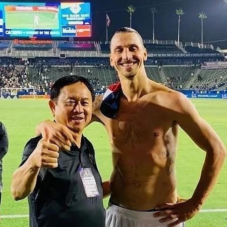 Ibrahimovic lamenta a morte de Freddie Fu, seu cirurgião - Reprodução/Instagram