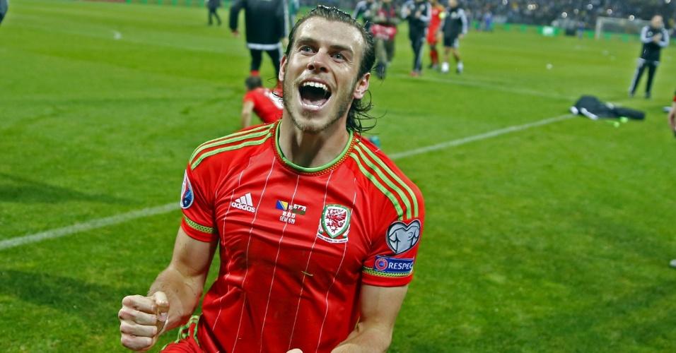 Bale comemora classificação de País de Gales para a Eurocopa