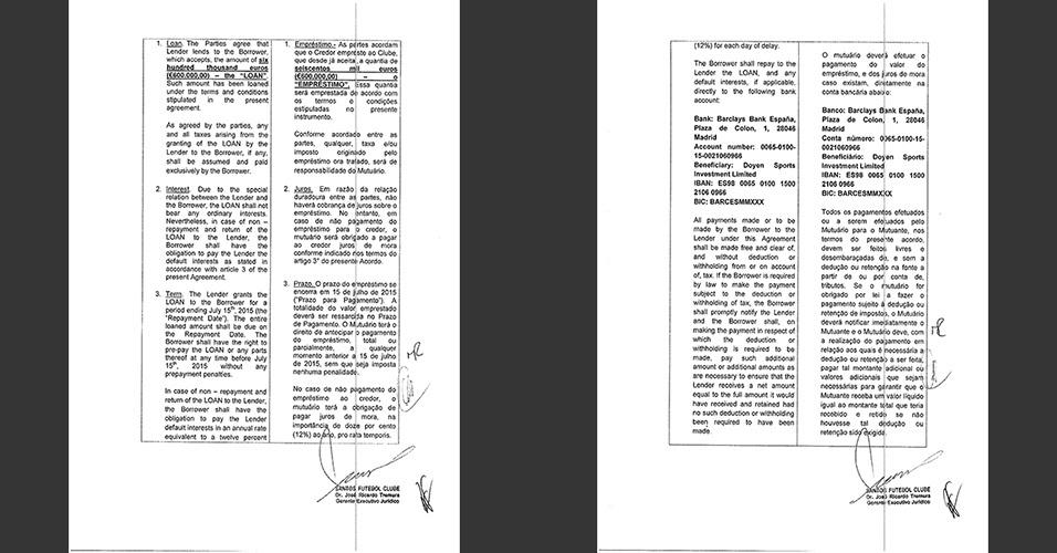 Detalhes do documento que não prevê cobrança de juros