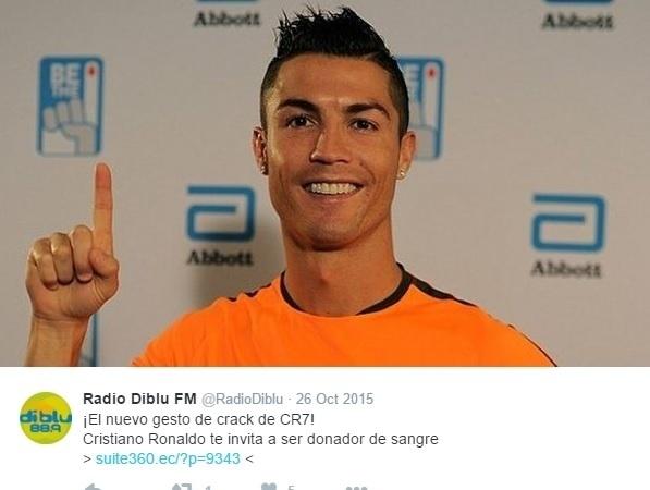 Cristiano Ronaldo participa de campanha convidando as pessoas a doarem sangue